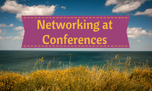 Networking at a Conference Chris Durban on and off stage